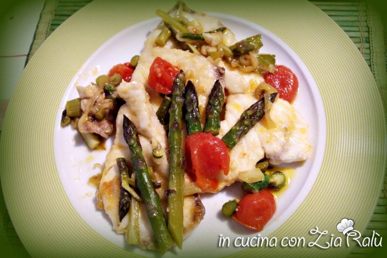 Cernia In Padella Con Pomodorini E Asparagi In Cucina Con Zia Ralu