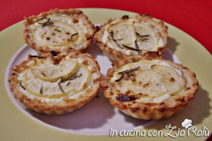 crostatine salate ricotta e limone