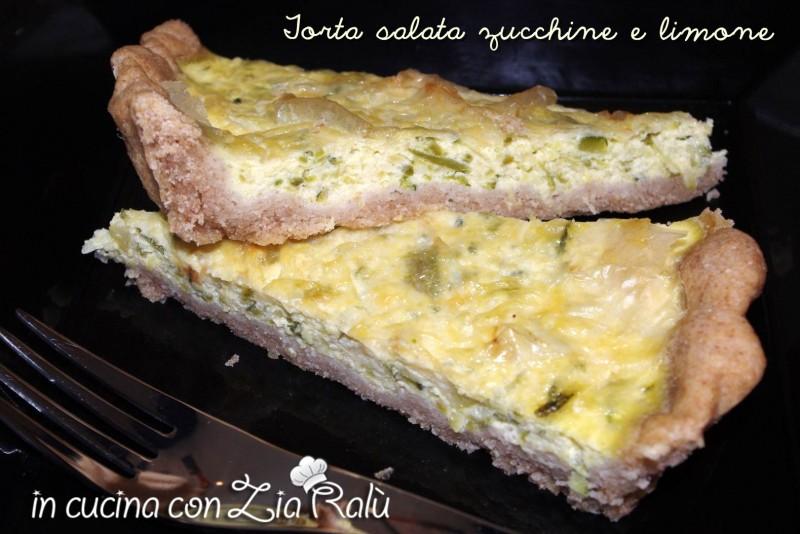 torta salata zucchine e limone