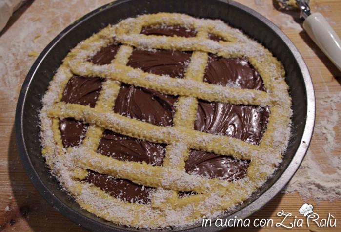 Crostata cocco e cioccolata