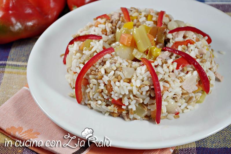 insalata di riso orzo farro