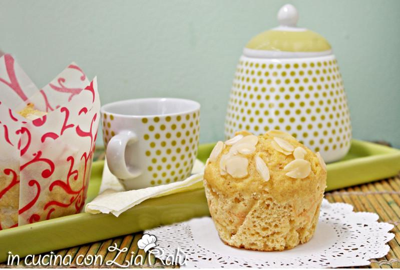 Muffins senza burro ricotta e mandorle