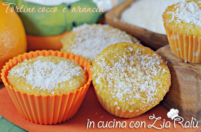 Tortine cocco e arancia - muffins