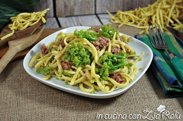 Pasta broccolo romano salsiccia e Marsala