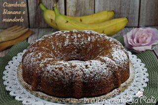 Ciambella alle banane e mandorle