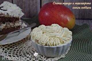 Crema mango e mascarpone senza cottura