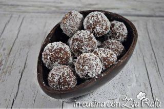 palline ricotta e cioccolato