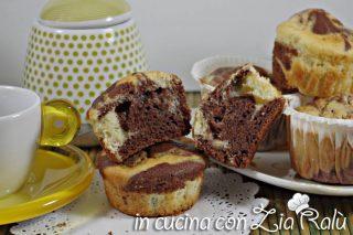 Muffins bicolore al mascarpone e panna