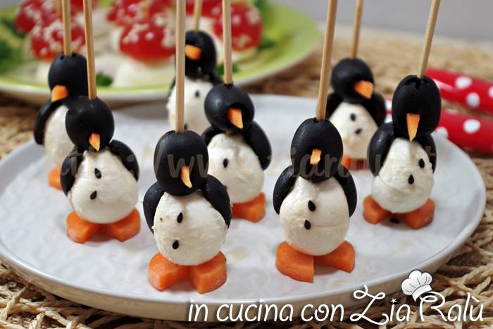 pinguini olive carote e mozzarelline