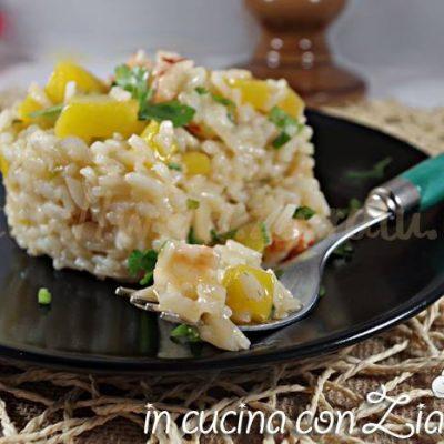 risotto mango e gamberoni