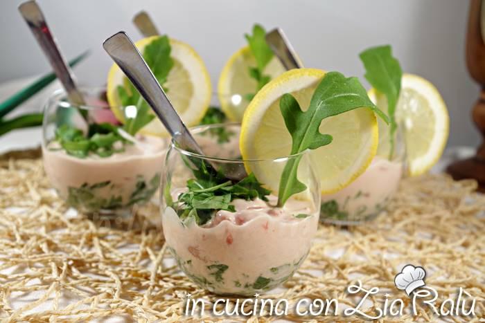 Cocktail di gamberi light – con yogurt greco
