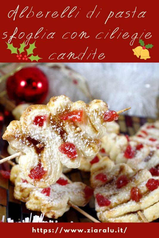 alberelli dolci con le ciliegie candite