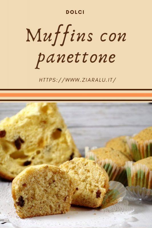 muffins al panettone, ricetta del riciclo