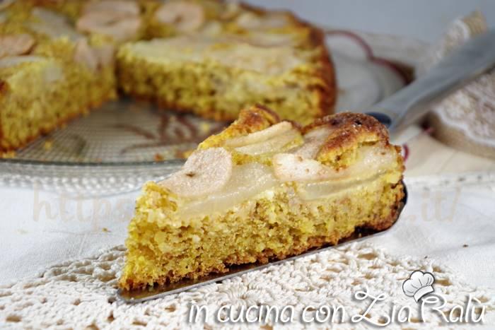 Torta integrale mandorle e pere - senza zucchero
