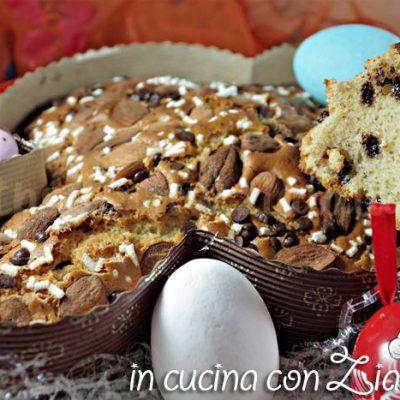 colomba veloce mandorle e cioccolata
