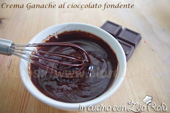 Crema Ganache al cioccolato fondente