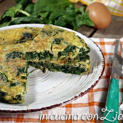 Frittata agli spinaci - ricetta light