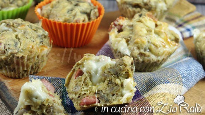 muffins salati carciofi wurstel
