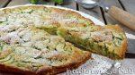 Torta dolce di zucchine - la scarpaccia di Viareggio