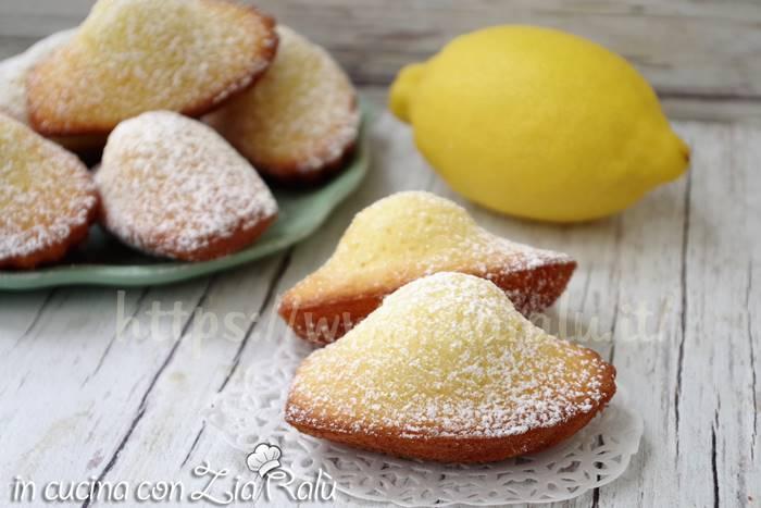 Madeleine al limone – ricetta originale