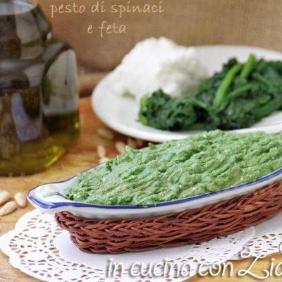 Pesto agli spinaci e feta - ricetta base gustosa