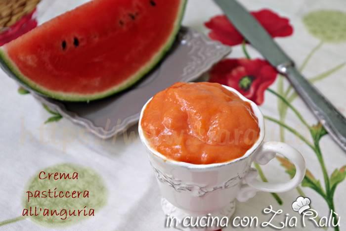 Crema pasticcera con anguria senza latte