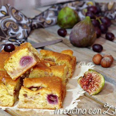 Torta fichi uva e nocciole - senza burro