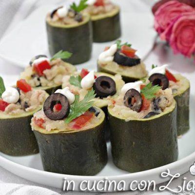 Rotolini di zucchine ripieni - Antipasto freddo