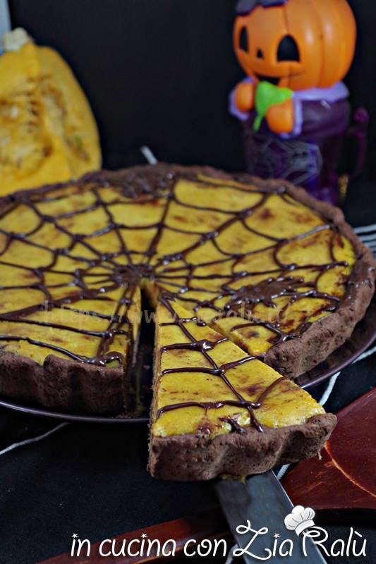 crostata alla zucca e cioccolato