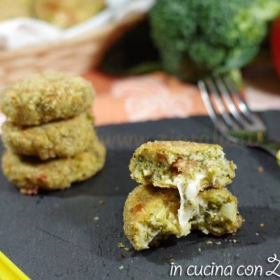 Crocchette di broccoli al forno filanti