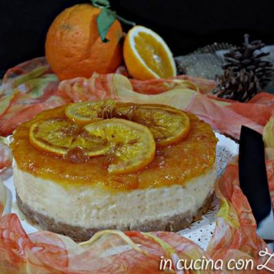 Cheesecake  all'arancia al forno