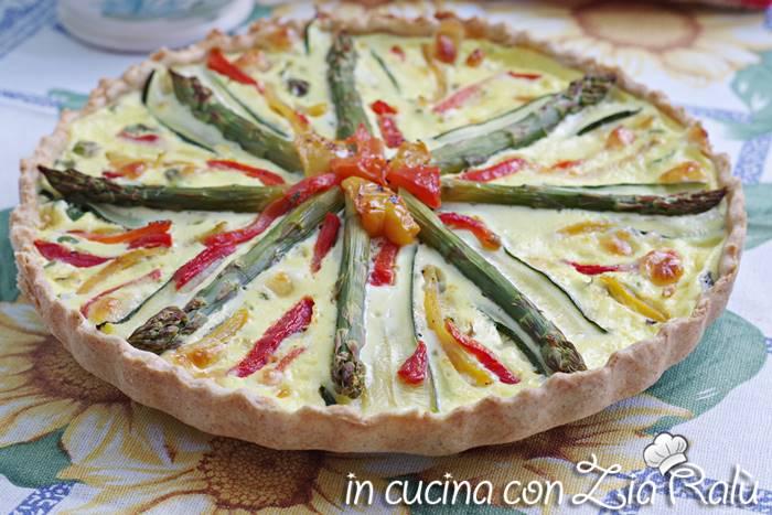 Torta salata asparagi e peperoni