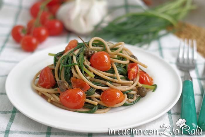 spaghetti alla San Giuannidde e agretti