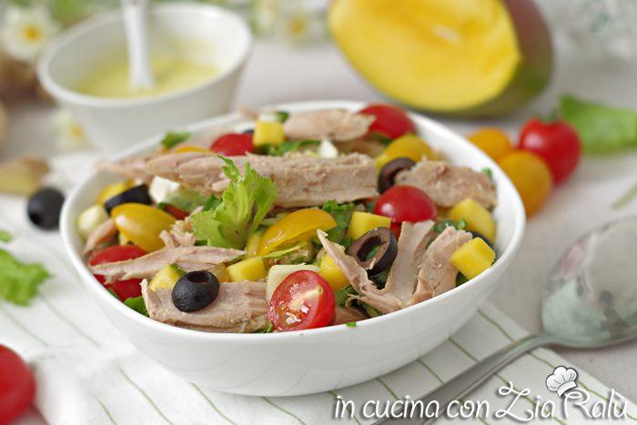 Insalata di tonno e verdure - ricetta light