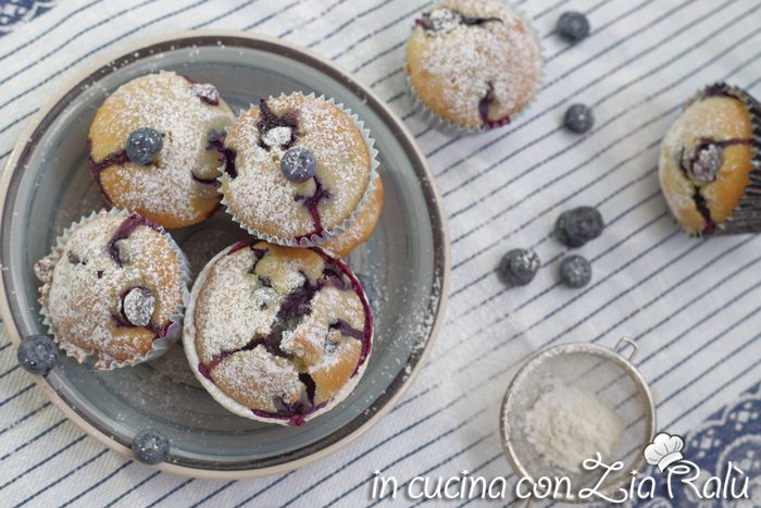 muffins ai mirtilli senza lattosio