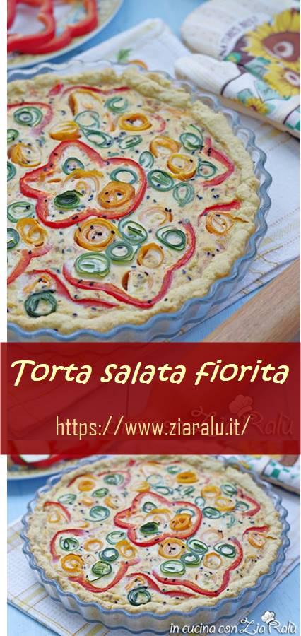 torta salata alle verdure fiorita