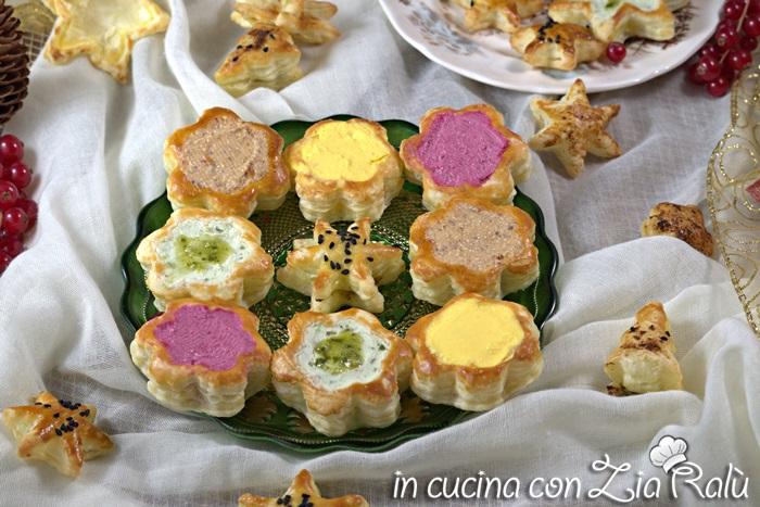 Vol au vent (Voulevant) colorati salati - Antipasto