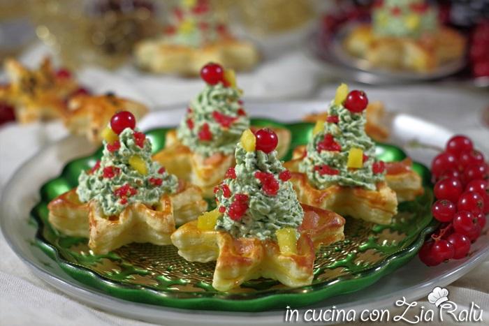 Antipasti Di Natale Foto.Alberelli Di Mousse Antipasto Di Natale In Cucina Con Zia Ralu