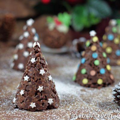 Alberelli di riso soffiato - dolci di Natale