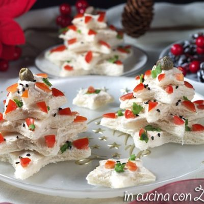 Alberelli di pancarré – antipasto di Natale