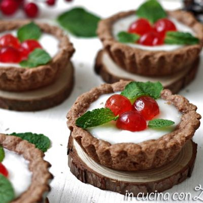Crostatine dolci natalizie - senza lattosio
