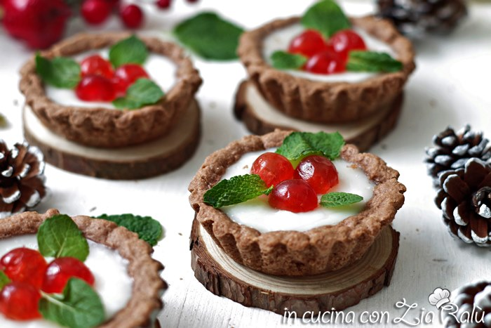Crostatine dolci natalizie – senza lattosio