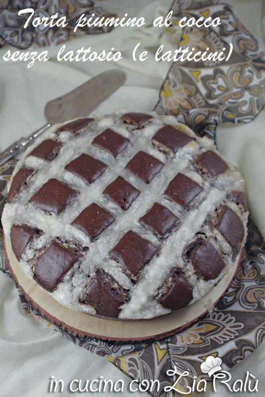 torta piumino al cocco senza latticini (lattosio)