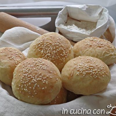Panini per hamburger - burger buns senza lattosio
