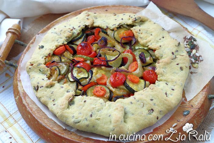 Torta salata rustica verdure e semi misti