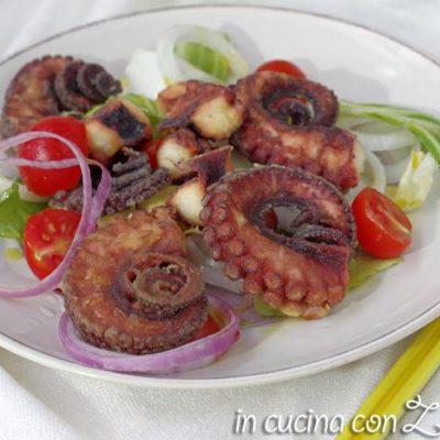 Polpo fritto (arricciato) - ricetta pugliese