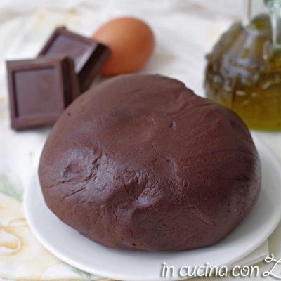 Pasta frolla al cioccolato fondente senza burro