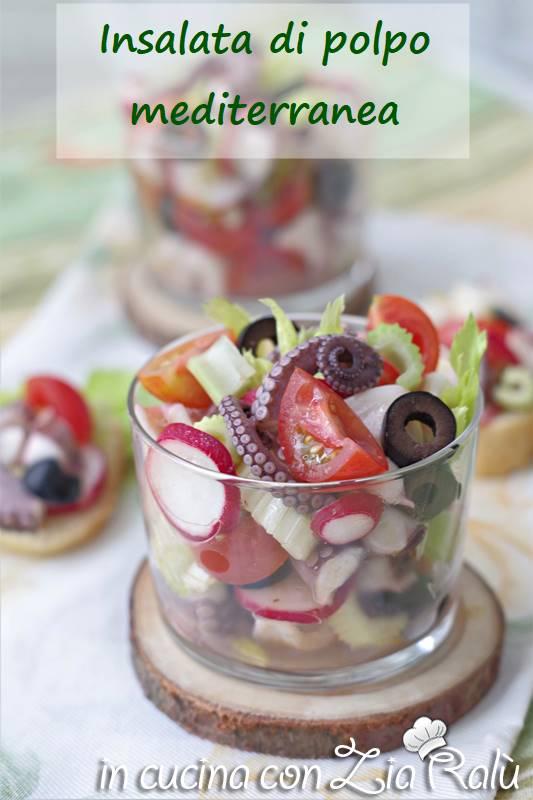L'insalata di polpo mediterranea è una gustosa e leggera