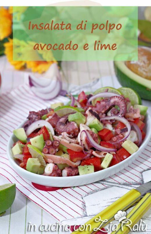 L'insalata di polpo e avocado con lime