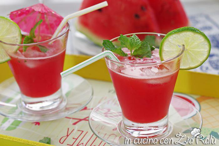 Succo di anguria menta e lime